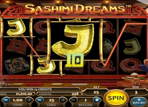 Выпадение комбинации символов в игре Sashimi Dreams