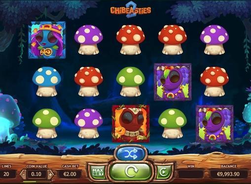 Игровая комбинация символов в Chibeasties 2